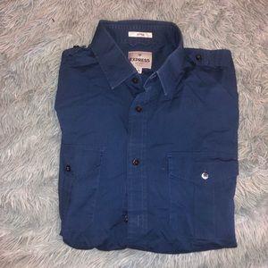 Men's fitted Express dress shirt